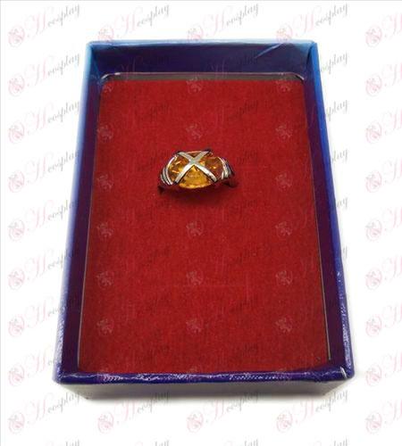 Shakugan no Shana gemstone rings (large orange)
