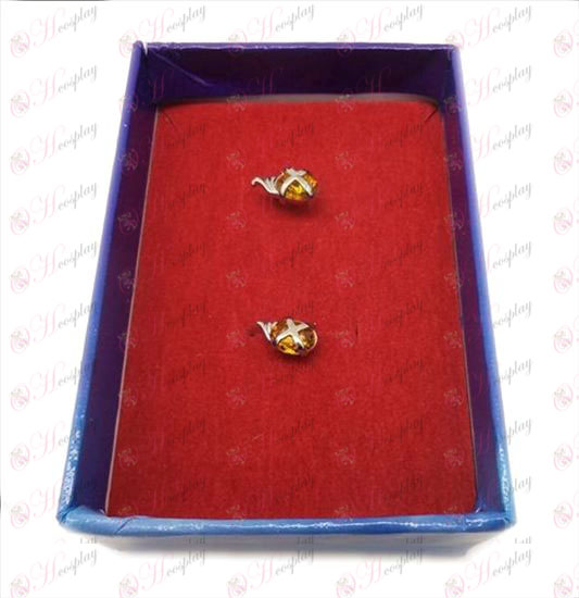 D Shakugan no Shana gemstone earrings (orange) Halloween Accessories Online Store