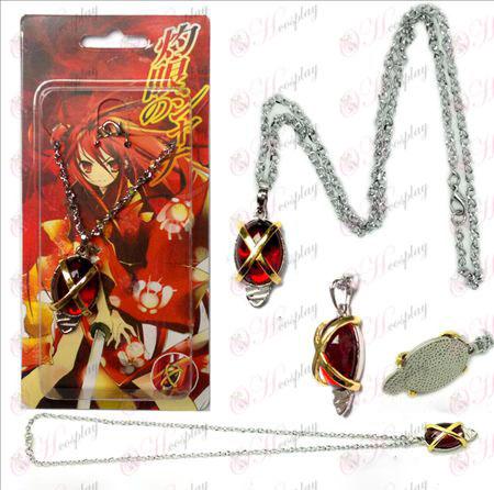 Shakugan no Shana Tianrang Jiehuo Arras Tuolu necklace red