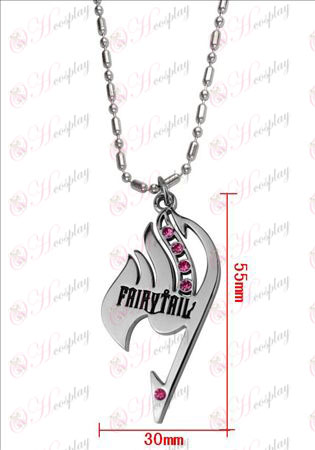 Fairy Tail med diamant halsbånd (rosa diamant)