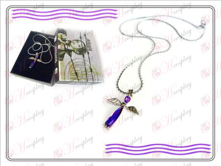 NANA Accessories New Angel Pendant Necklace (Purple)