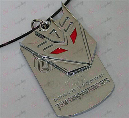 Transformers Accessories Decepticons double tag necklace - marked - White
