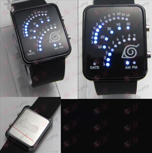 Naruto konoha fan LED watch