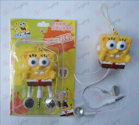 SpongeBob SquarePants Accessories Retractable MP3 Earphone (a)