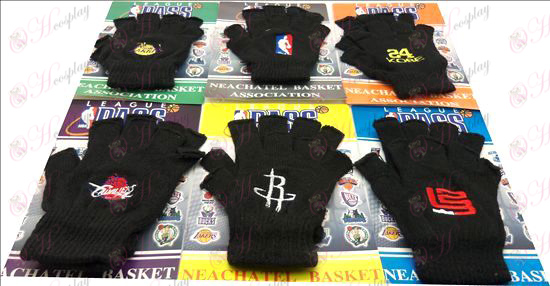 Basketball half-finger glove embroidery (6 pairs / set)