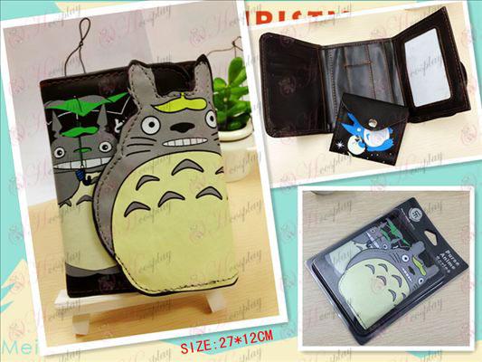 Mi Vecino Totoro AccesoriosQ Edición Monedero mayor (Negro)