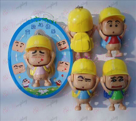 Crayon Shin-chan Accessories face doll ornaments (a) powder coat