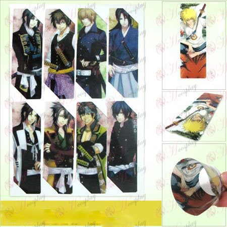 SQ004-Hakuouki Accessories anime big Bookmarks (5 version of the price)
