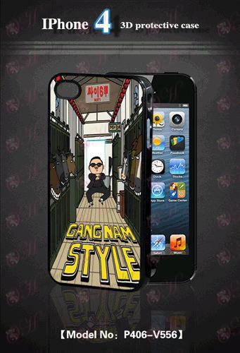 3D mobilný telefón Apple shell 4 - terc-Bird na koni Dance