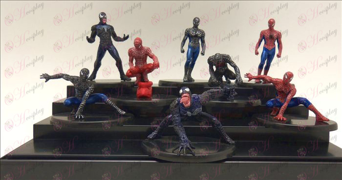 Eight Spiderman doll cradle