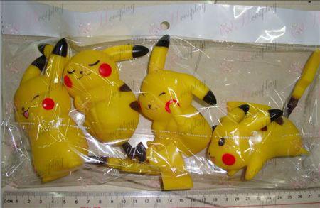 4 models Pikachu (body 11CM, tail 7CM)