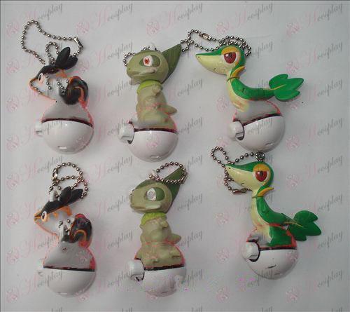 Genuine 6 Pokemon Accessories Doll