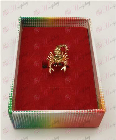 Saint Seiya Accessories scorpion ring (champagne)
