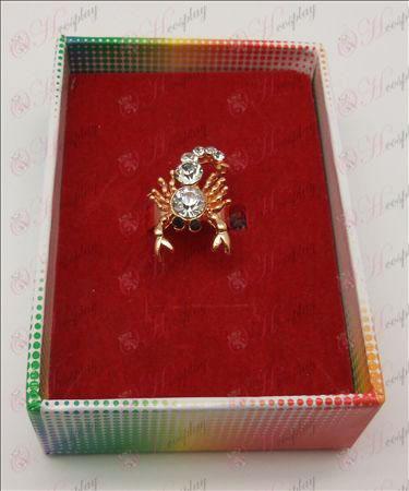 Saint Seiya Accesorios Scorpion Ring (Blanco)