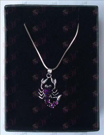 Saint Seiya Accesorios escorpión collar (morado)