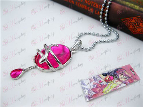 Magical Girl Accessories drop necklace (Rose Red A section) card installed