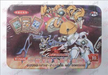 Estaño genuino Yu-Gi-Oh! Accesorios Card (tarjeta de la máquina un grupo emperador Raiders)
