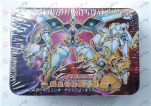 Estaño genuino Yu-Gi-Oh! Tarjeta de Accesorios (grupo de tarjetas a un rey de Dios ha venido)