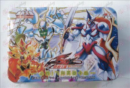 Estaño genuino Yu-Gi-Oh! Accesorios Card (win! Flying grupo de tarjetas héroe)
