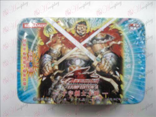 Estaño genuino Yu-Gi-Oh! Accesorios Card (espadas cruzadas grupo Fujiki)