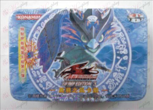 Estaño genuino Yu-Gi-Oh! Accesorios Card (Negro grupo de tarjetas de viento Feather)