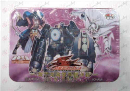 Estaño genuino Yu-Gi-Oh! Accesorios Card (tarjeta principal con el grupo de cohomología Heroes)