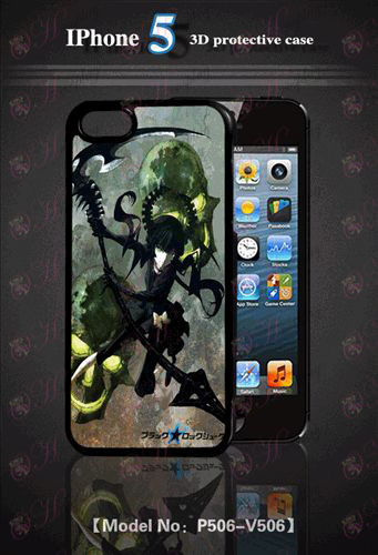 3D mobile phone shell Apple 5-Lack Rock Shooter Accessories2