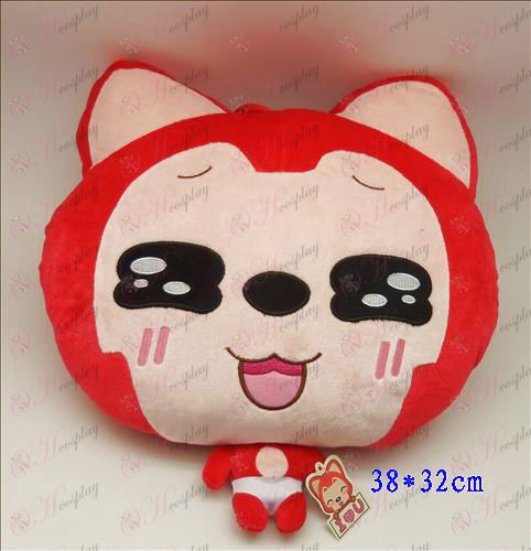 2 # Ali Accessories Plush Shou Wu (red squares)