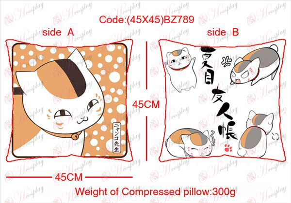 (45X45) BZ789-Natsume's Book of Friends Accessories Anime sided square pillow