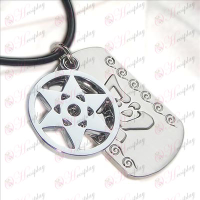 Naruto - kaleidoscope write round eyes double tag necklace