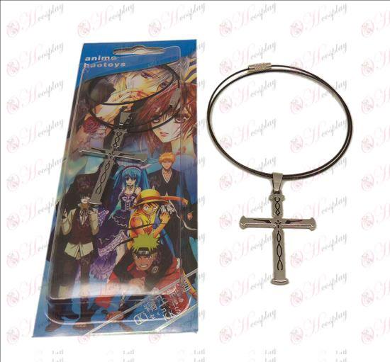 D evil crown crucifix necklace