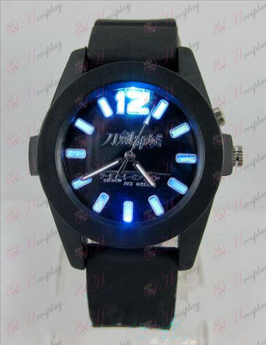 Sword Art Accesorios Online coloridas luces Watch - Negro