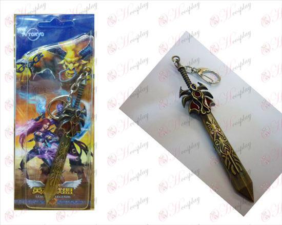 League of Legends alimentación Accesorios de Dema West cuchillo de hebilla de bronce