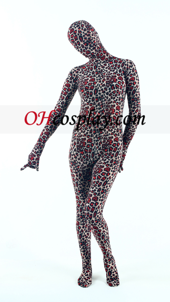 Leopard Lycra Zentai Suit