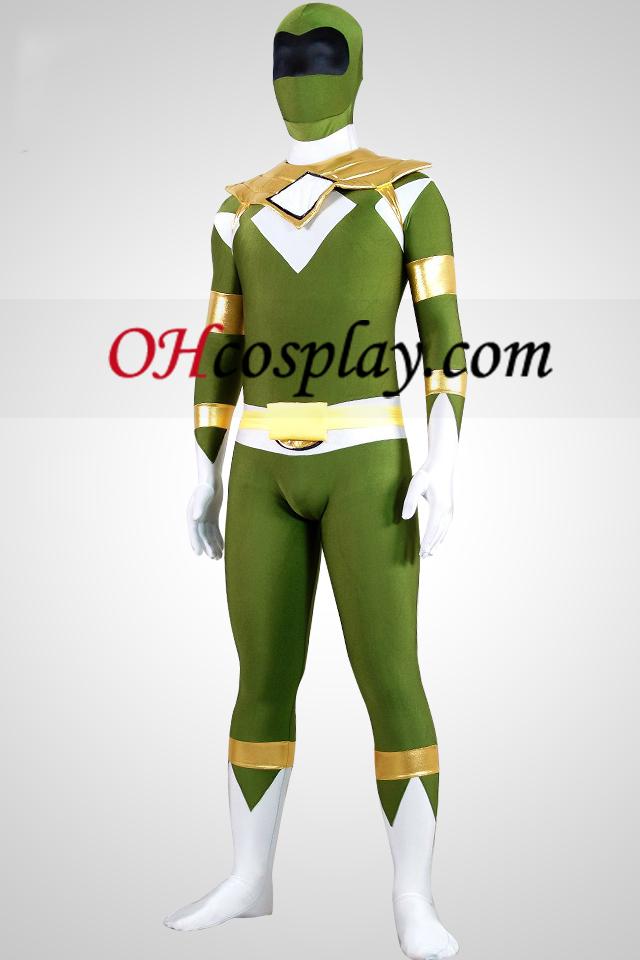 Mighty zentaiin Grønn Ranger Lycra Spandex Zentai Suit