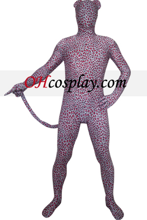 Red Leopard Lycra Zentai Suit