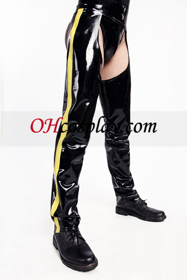 Shiny Black and Yellow Latex Costume Halloween Accessories Buy Online