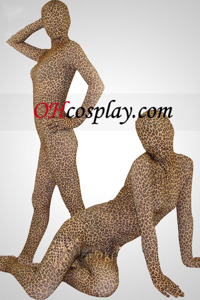 Leopard Skin Full Body Lycra Spandex Zentai Suit