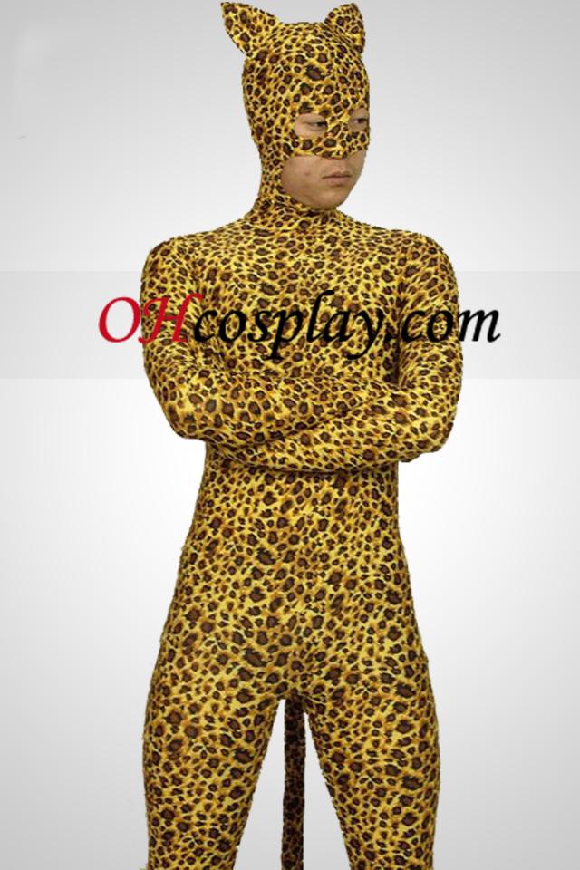 Leopard Style Lycra Spandex Zentai Suit
