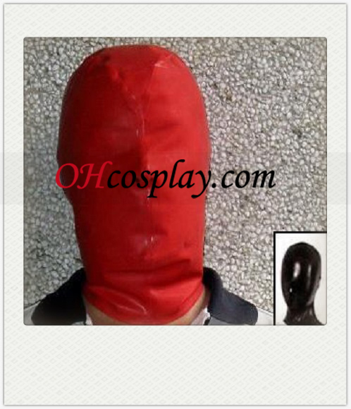 Sexy Red Female SM Latex Mask