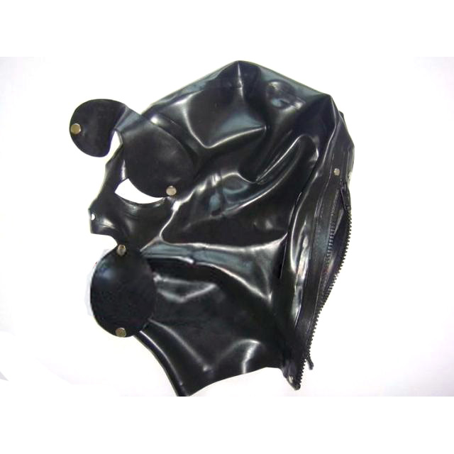新しいブラックラテックスは、リムーバブルまびさしのマスク