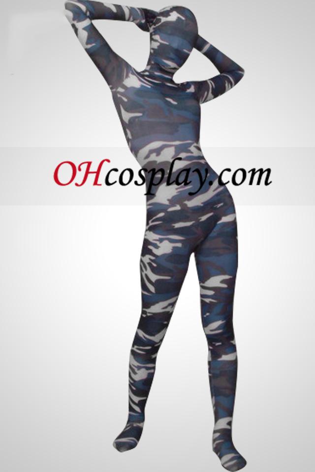 Camuflaje Color de cuerpo completo Lycra Zentai Suit