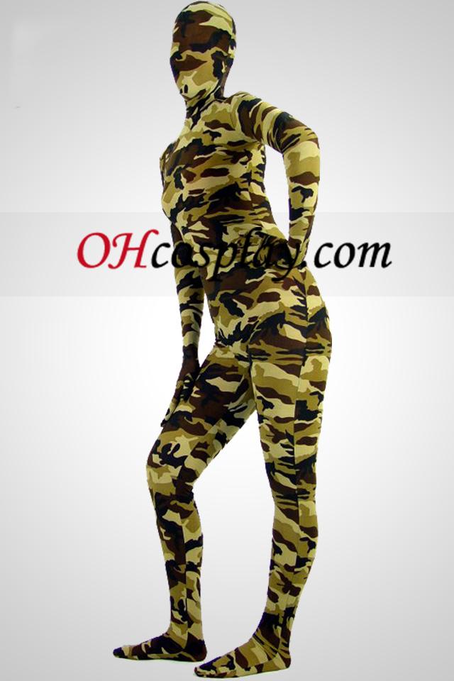 Desierto Camuflaje Partten Spandex Zentai Suit B