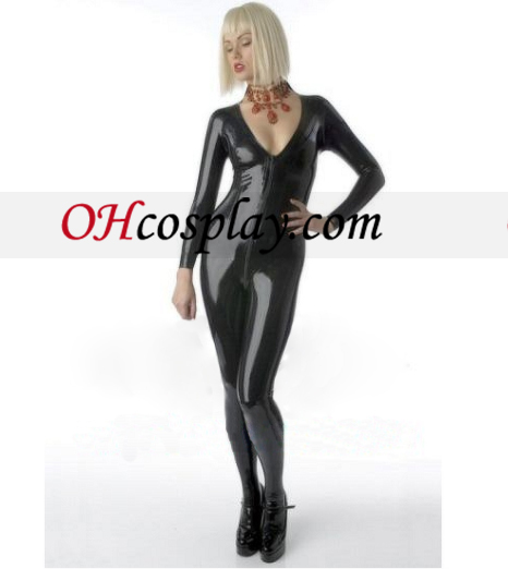Dyp V-hals Latex Costume