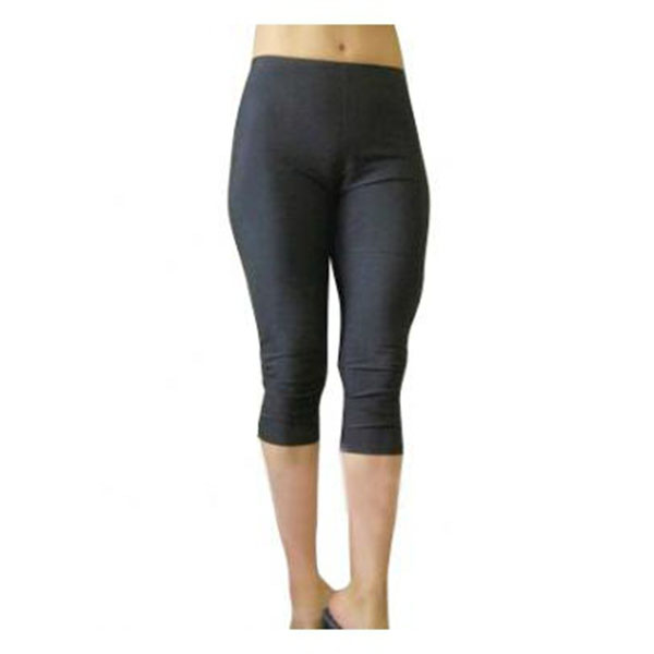 Black Female Lycra Spandex Capris Pants