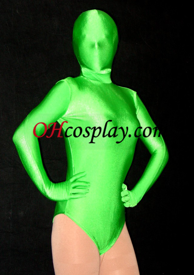 Vihreä Halfbody Lycra Spandex Zentai Suit