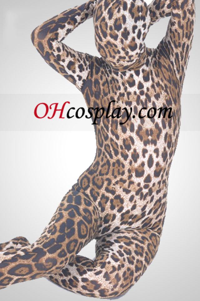Leopard Pattern Unisex Lycra Spandex Zentai Suit