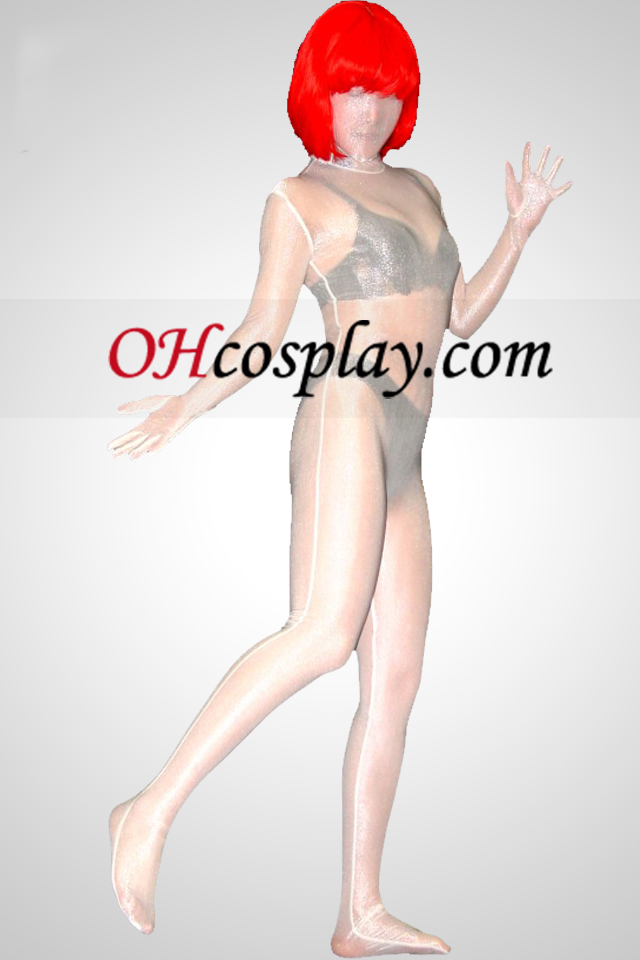半透明のライクラスパンデックスユニセックス全身タイツスーツ