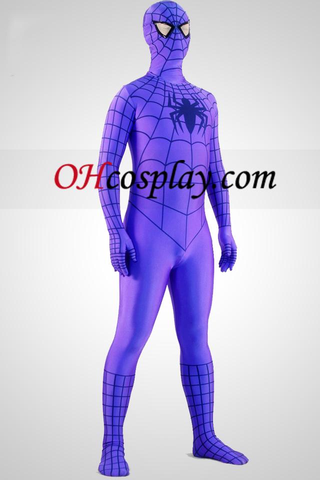 Purple Suit Spiderman Superhero Zentai