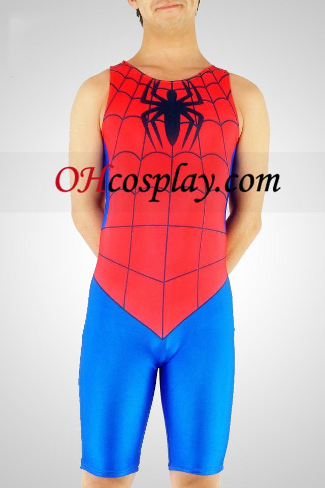Halfbody Lycra Spandex Spiderman Superhéroe Catsuit